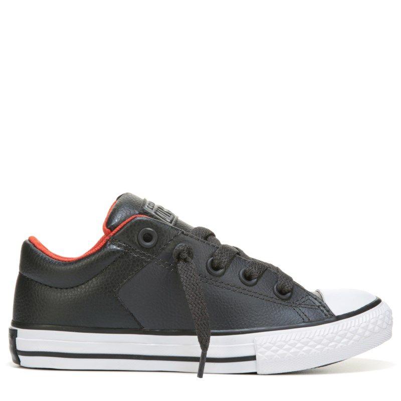 19f1f9fc147f Converse Kids  Chuck Taylor All Star High Street Low Top Sneakers (Grey  Black Red) - 12.0 M