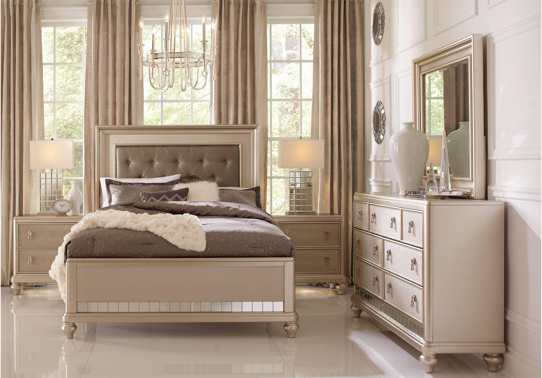 Sofia Vergara Paris Silver 5 Pc Queen Bedroom Bedroom