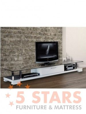 E 113wh Tv Stand With Glass Top Tv Stands Pinterest Tv Stands