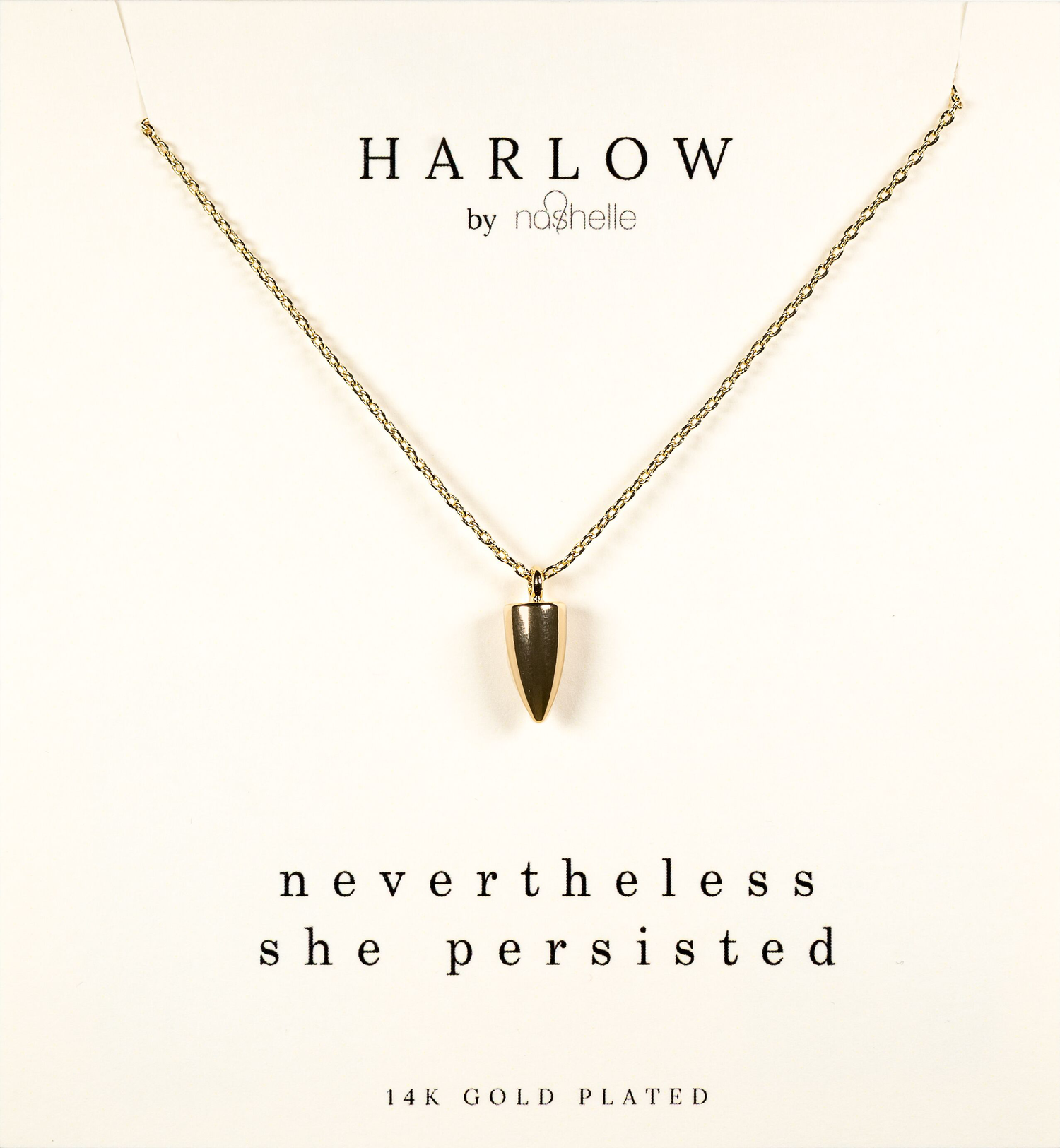 Harlow Box Set Dagger Necklace Never the Less She Persisted  The box set collection from our HARLOW by Nashelle was Designed in Bend Oregon and ethnically sourced