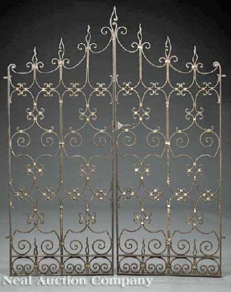 Wrought Iron Gate With Images Iron Gates For Sale Iron Gates