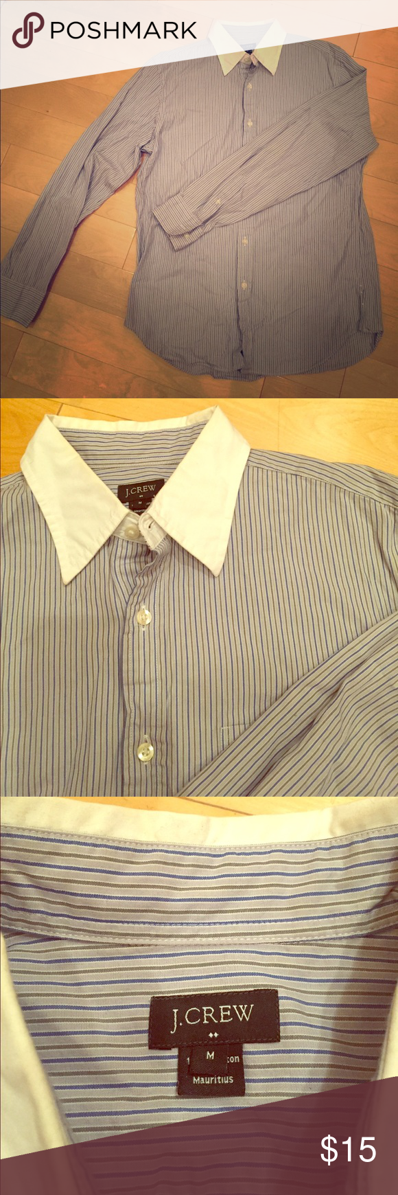 e7841469f Green Striped Shirt White Collar – EDGE Engineering and Consulting ...