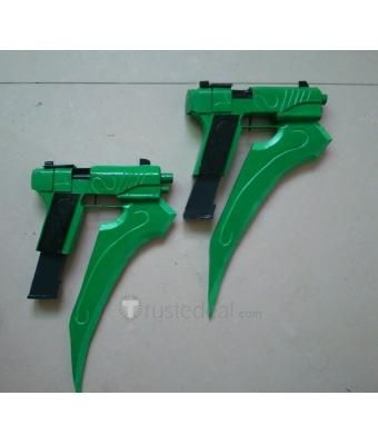 Rwby Lie Ren Stormflower Green Submachine Guns Weapon Cosplay