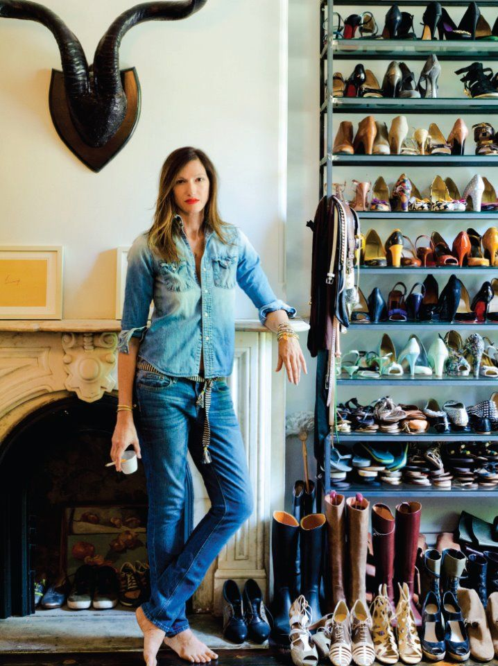 jenna lyons with part of her shoe collection. swoon.