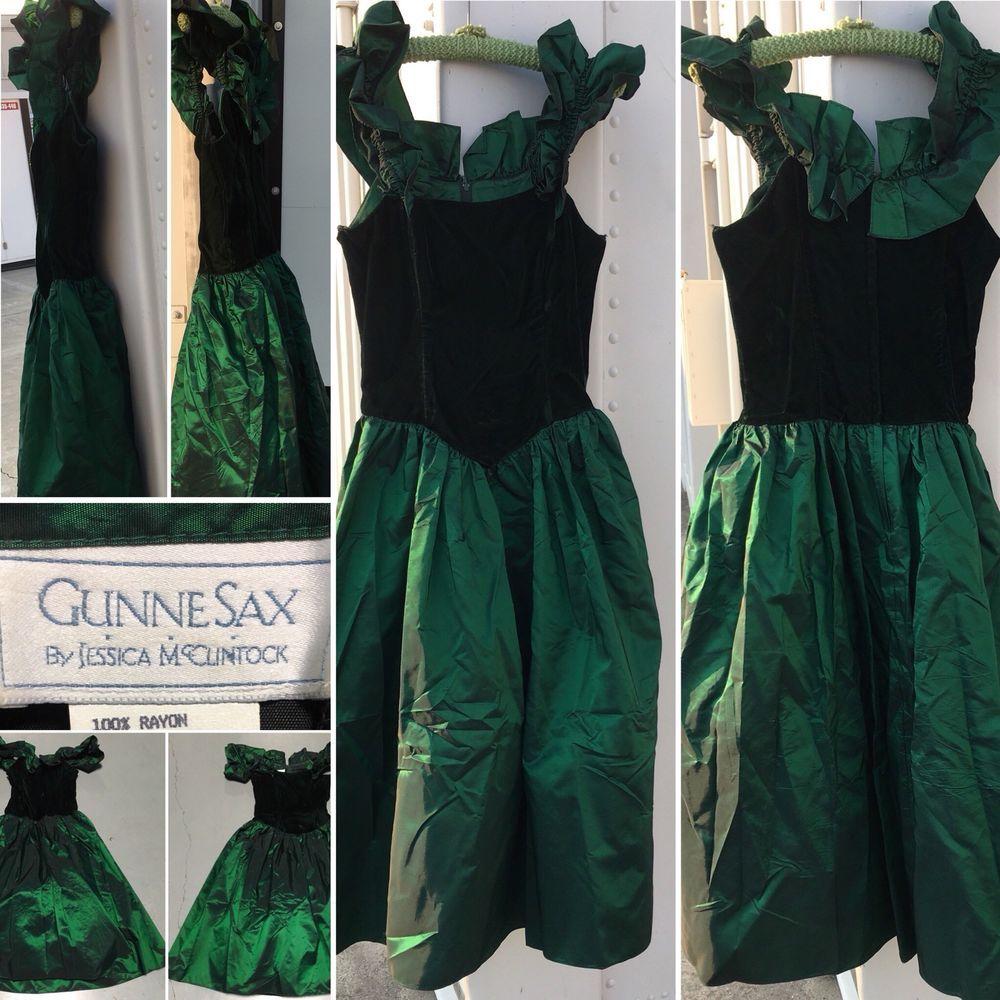 Vintage gunne sax by jessica mcclintock s prom dress puffy