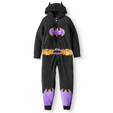 d882b9f57727 Batgirl Girls  Poly 1-Piece Footless Sleeper