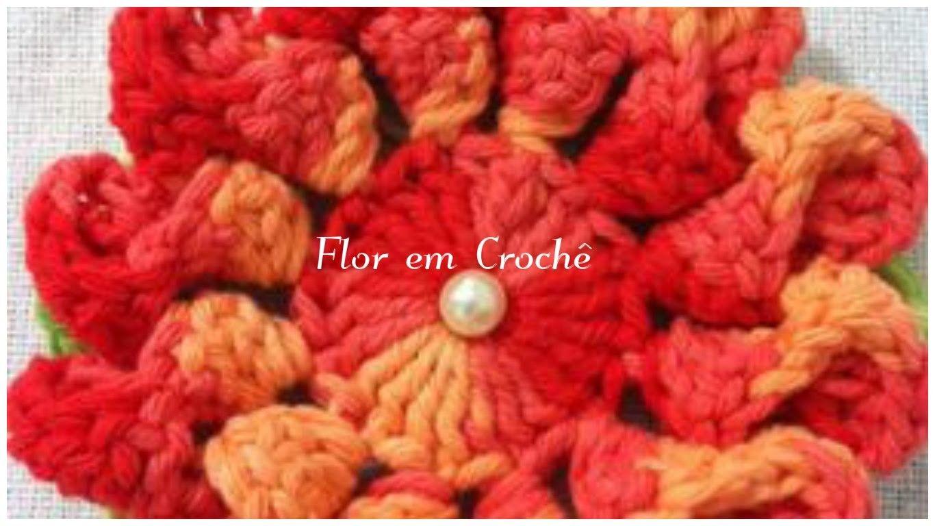 Artesanato: Flor em Crochê -Passo a Passo  Para Iniciantes
