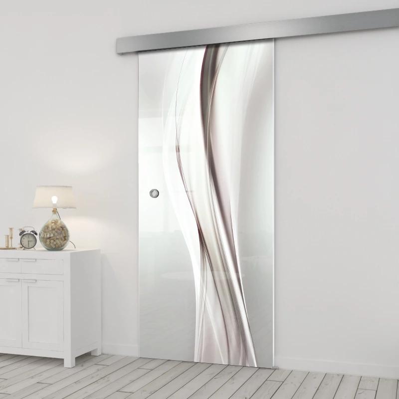 Drzwi Szklane Przesuwne Grafika 85 H018 7417657362 Oficjalne Archiwum Allegro Glass Doors Interior Doors Interior Modern Interior