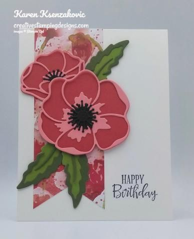 Stampin Up Peaceful Moments Sneak Peek Stamping Up Cards Poppy Cards Handmade Birthday Cards