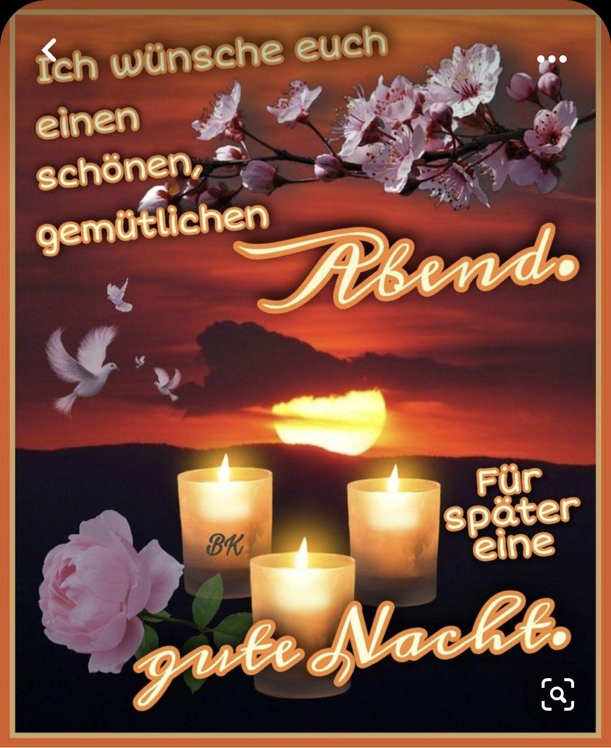 Pin von Anja Lütke-Wiesmann auf Schönen Abend gute Nacht