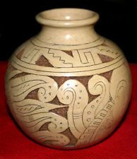 Hand Made Mexican/Native ? Coiled Clay Pot