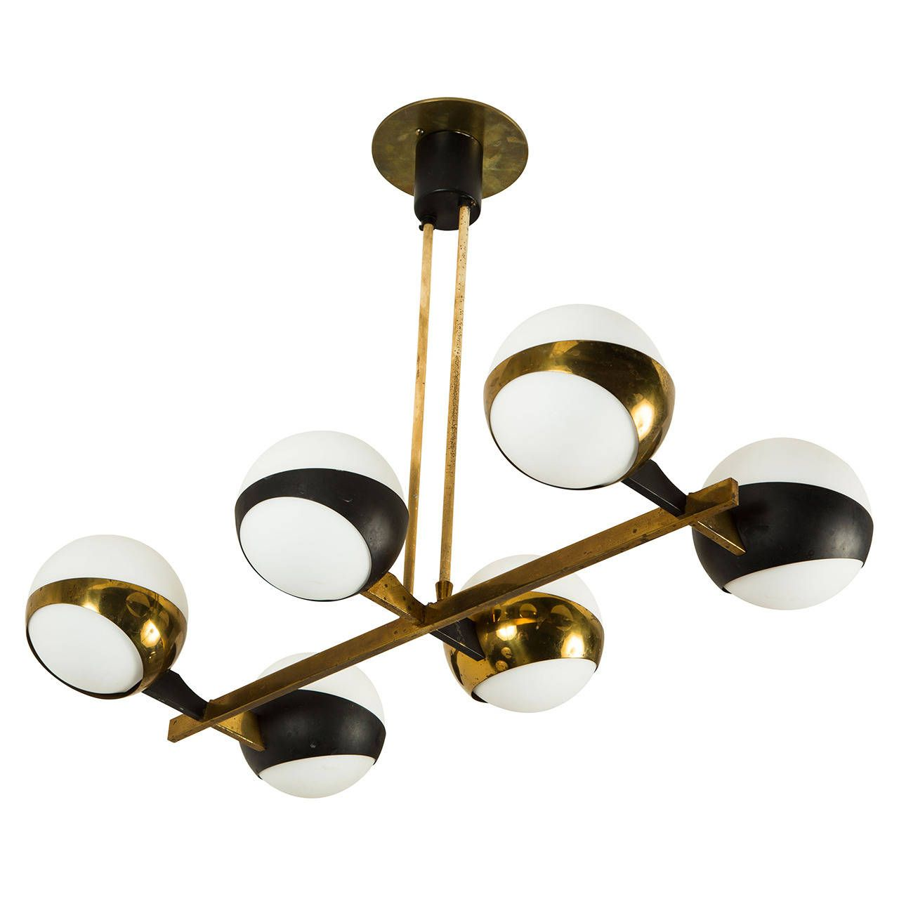 Stilnovo six arm chandelier pendant lighting chandeliers and modern stilnovo six arm chandelier aloadofball Gallery
