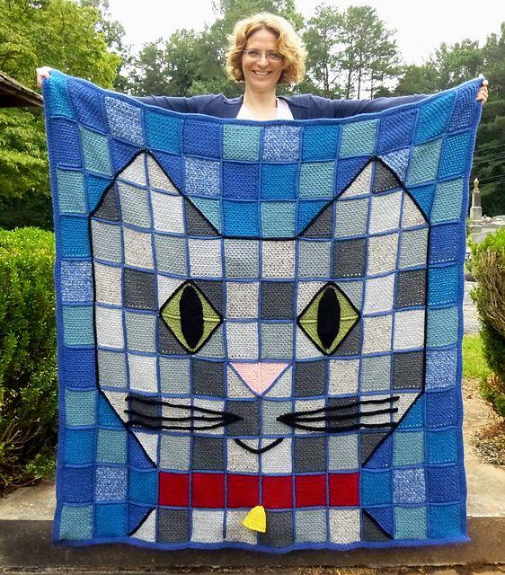Ravelry: Patchwork Baby Kitty Throw Blanket, Crochet pattern by Darleen Hopkins