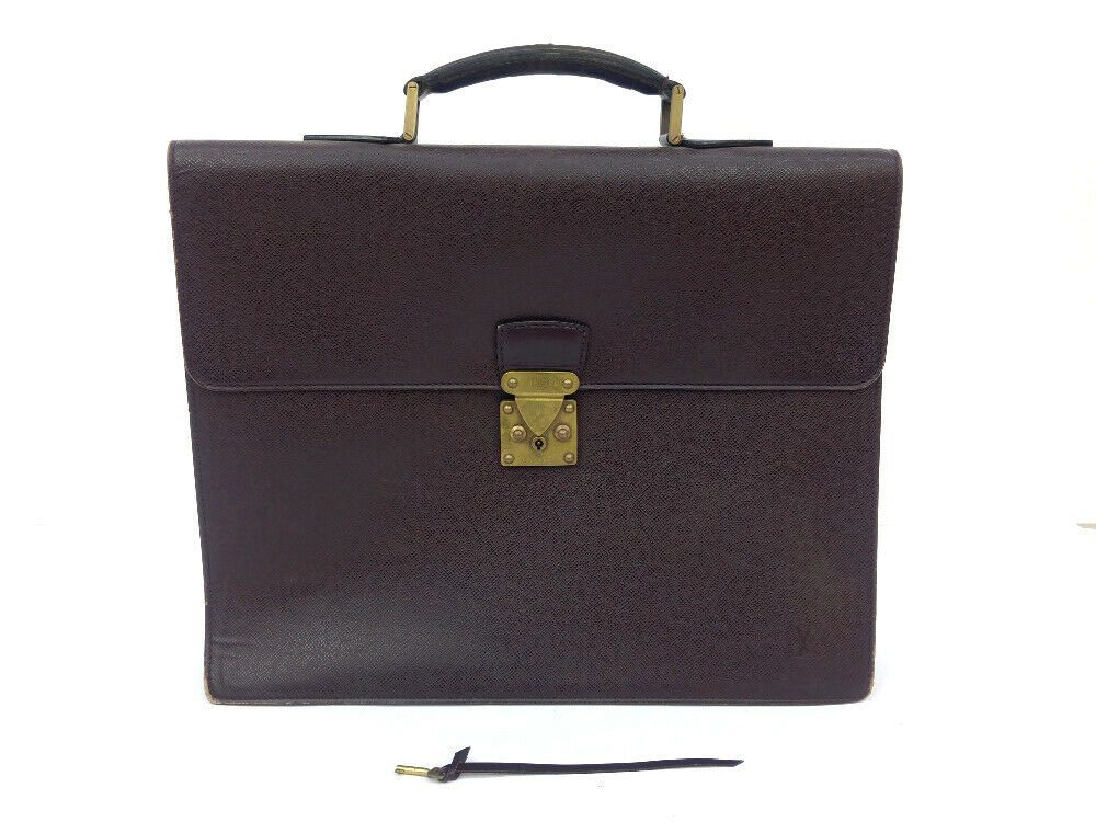 5525e98d2 eBay #Sponsored Authentic LOUIS VUITTON M30036 Moskova Acajou Taiga Calf Business  Bag