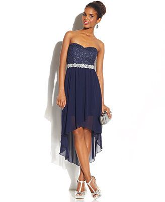 8290c77553b City Studios Juniors  Sweetheart High-Low Dress