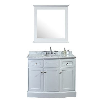 Ariel Bath Montauk 42 Single Bathroom Vanity Set With Mirror Vanity Bathroom Vanity Vanity Sink