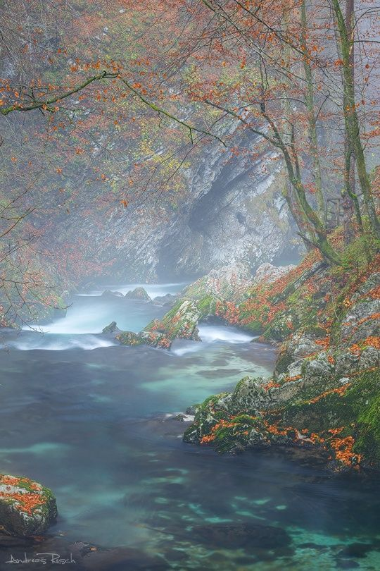 Vintgar Gorge in the Rain - Slovenia