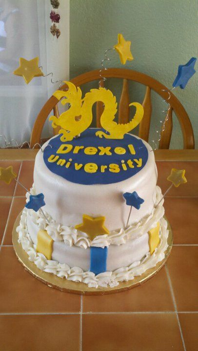 Drexel University Cake Cake I made for my brother who is off to