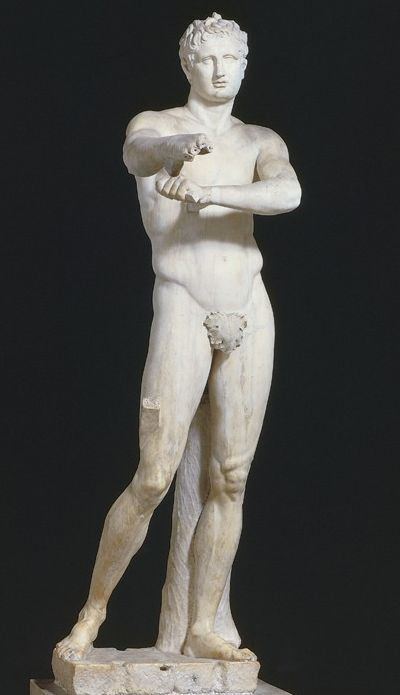 Vatican Apoxyomenos Greece 330 Bc Greek Art Roman Sculpture Roman Art