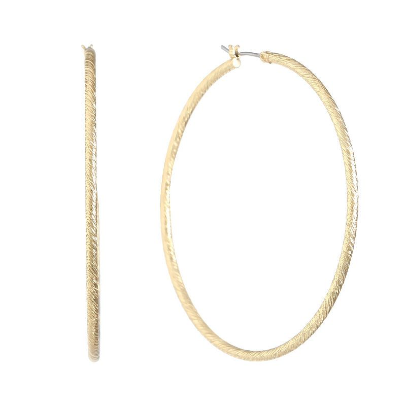 521b396e6 Gloria Vanderbilt 1 1/2 Inch Hoop Earrings | Products | Hoop ...