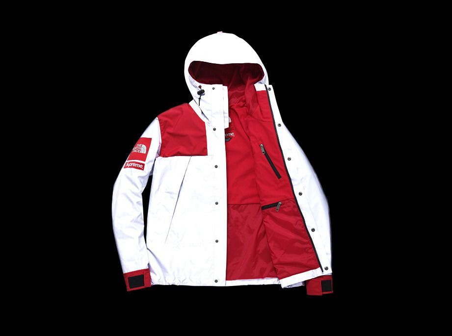 North face supreme reflective 3m mountain parka red