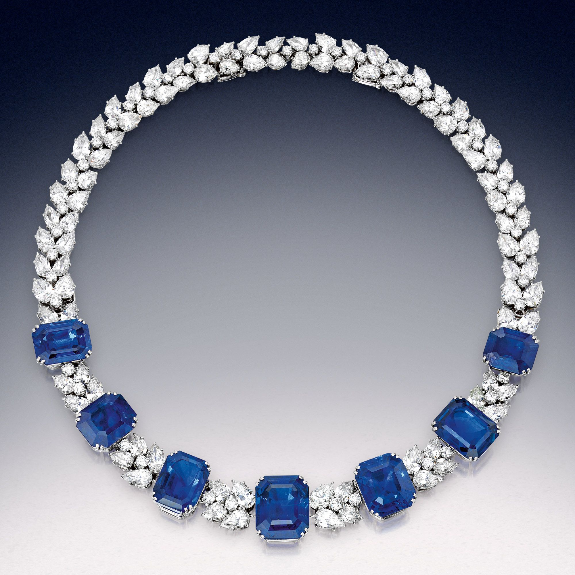 Magnificent Sapphire And Diamond Necklace Bracelet Combination The Sapphires Weighing A Tot With Images Diamond Necklace Simple Jewelry Diamond Necklace Designs