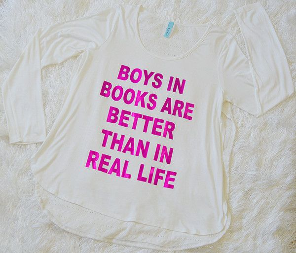 'Boys In Books Top'  http://www.affordablychicboutique.com