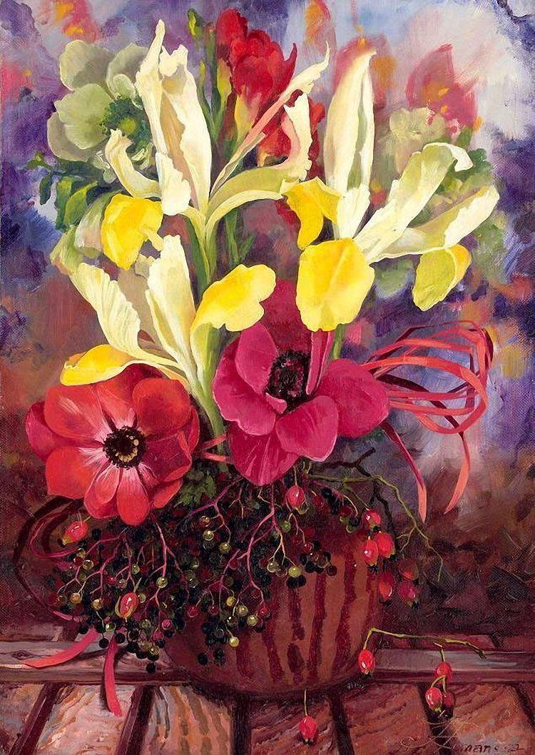 Цветочно - фруктовые натюрморты. Художница Ira Rom-Lorenz ...