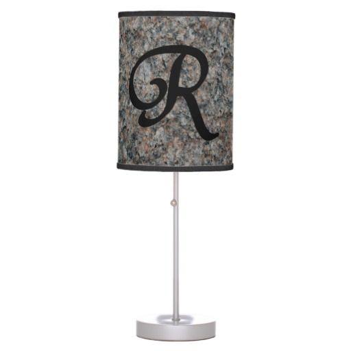 Monogram R Lamp in a Box  #homedecor  $44.95