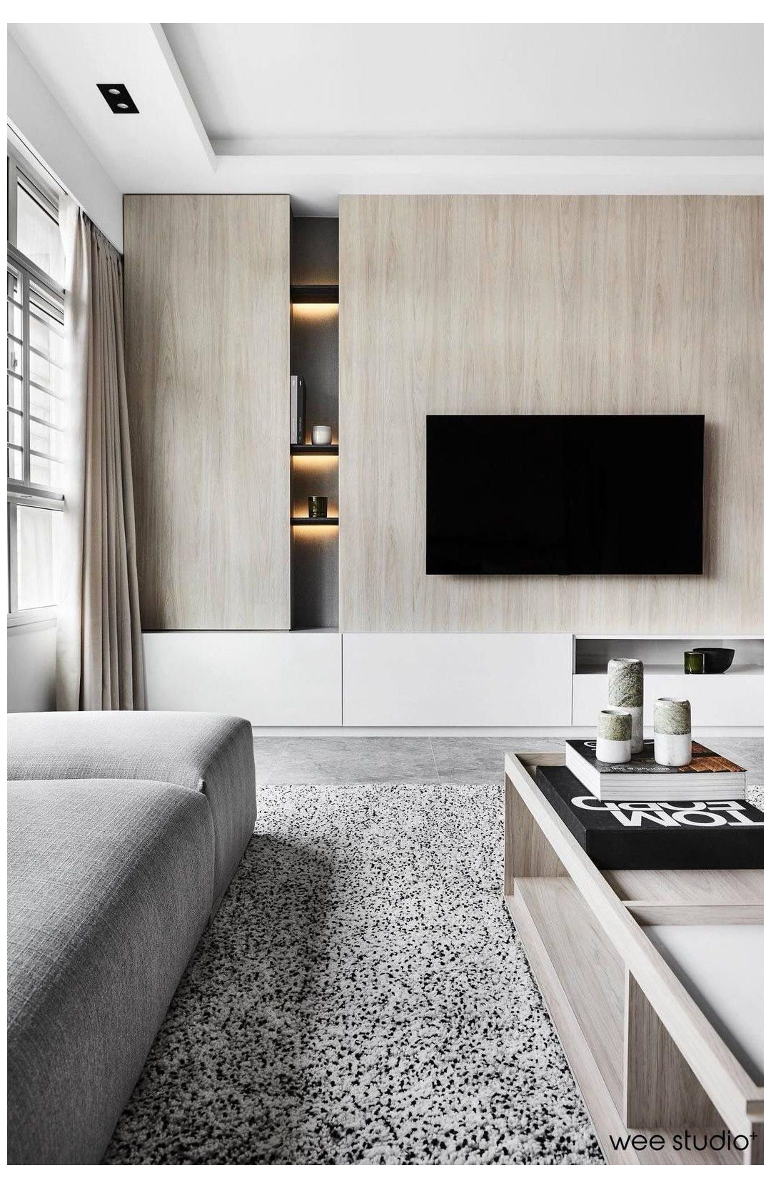 Hidden Storage Living Room Tv Wall With Hidden Storage Living Room Storage Wall Living Room Wall Units Home Living Room Living room ideas storage