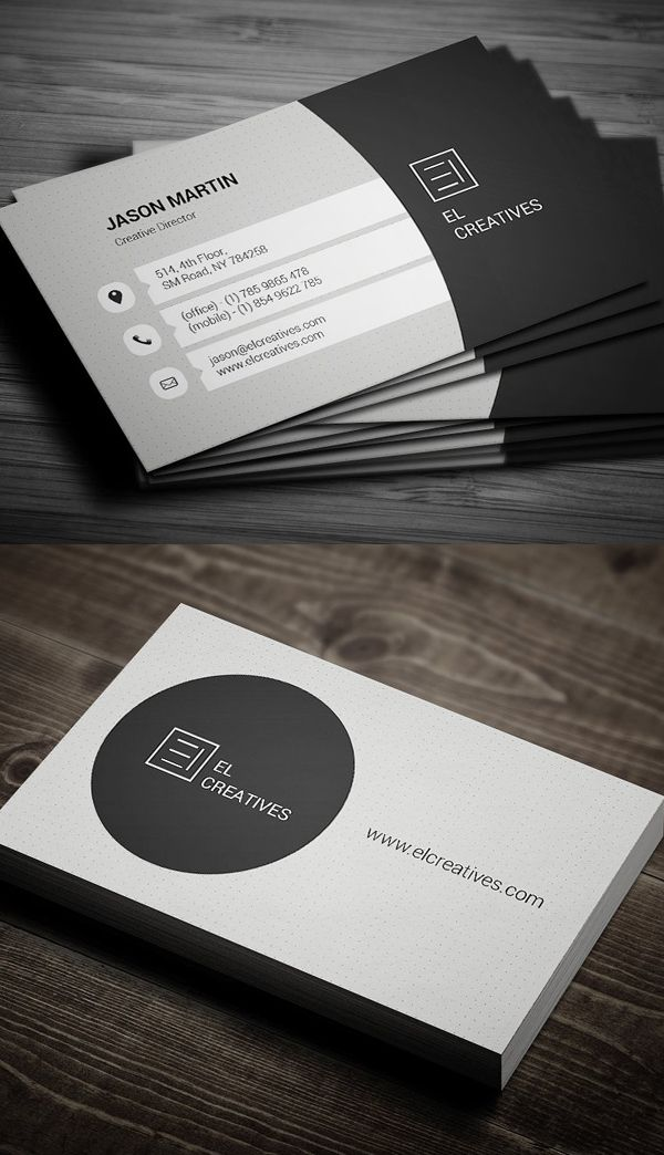 Clean Corporate Business Card Design | design | Pinterest ...