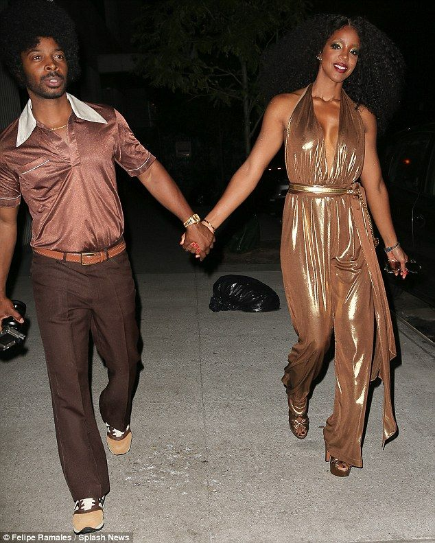 Kelly Rowland is a vision in gold at Beyonces 35th birthday party (Photos)