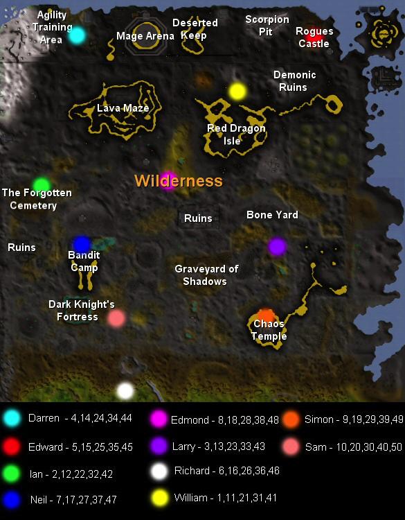 TIL the team cape seller's names spell out WILDERNESS