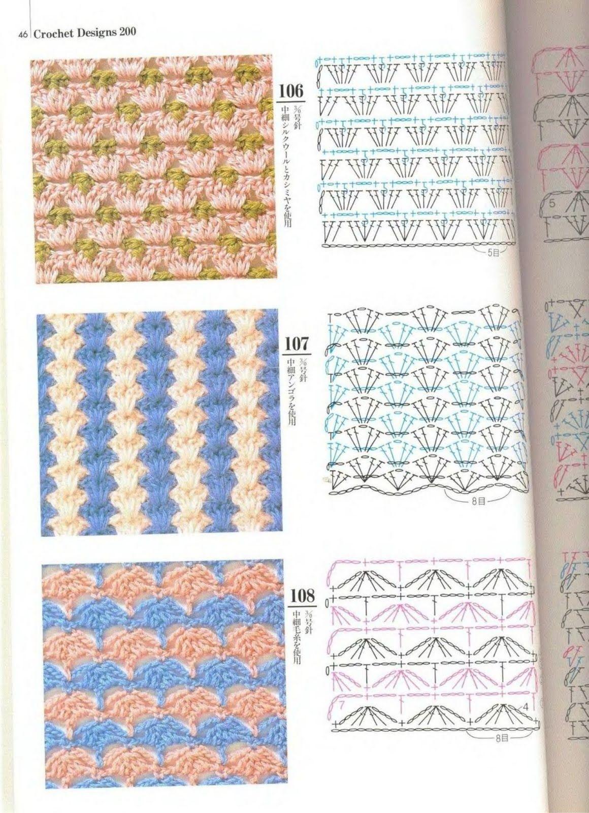 SOLO PUNTOS: Crochet Dos colores | Esquemas puntos | Croché ...