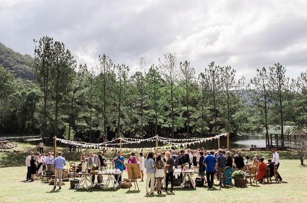 Love This Outdoor Picnic Reception Camping Wedding