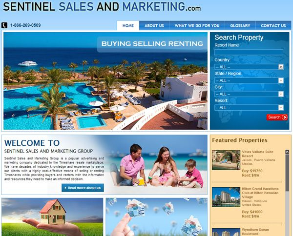 A Cool Real State & Construction Website! www.sentinelsalesandmarketing.com POWERED BY FSDSOLUTIONS! ;)