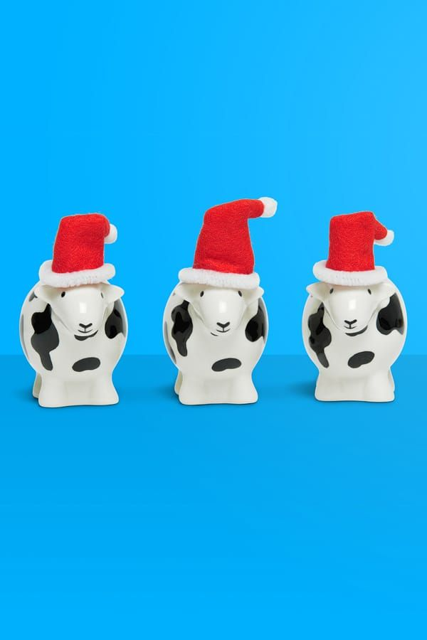 Dairy #Christmas and a Happy Moo Year! #Puns4eva #herdy #herdwick #sheep #lakedistrict