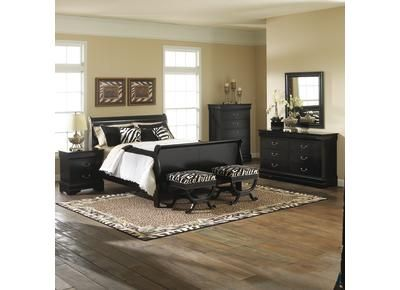 badcock carrington king sleigh bedroom mi casa furniture home rh pinterest com