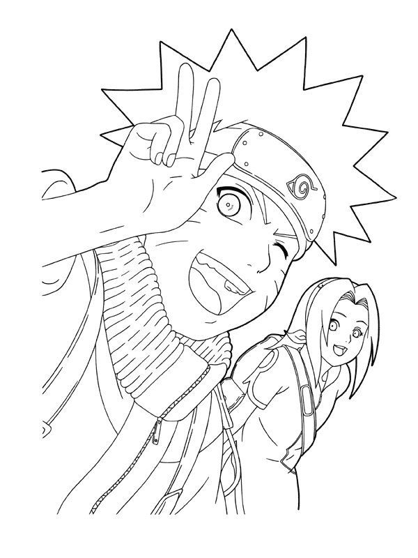Printable Naruto Coloring Pages Kids Free Coloring Pages For Kids Coloriage Naruto Dessin Naruto Coloriage Super Heros