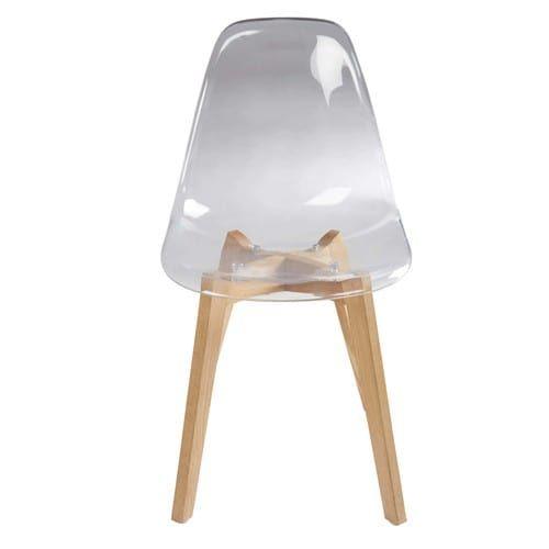 Chaise Transparente Et Ton Naturel Chaise Transparente Chaise Style Scandinave Chaise