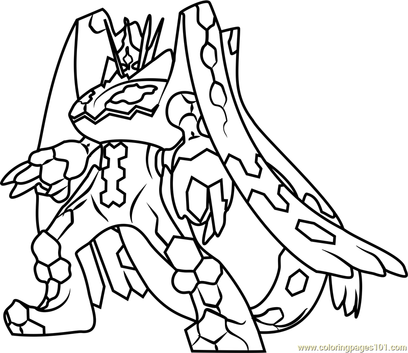 Zygarde Complete Forme Pokemon Sun And Moon Coloring Page Moon Coloring Pages Pokemon Coloring Pages Pokemon Coloring