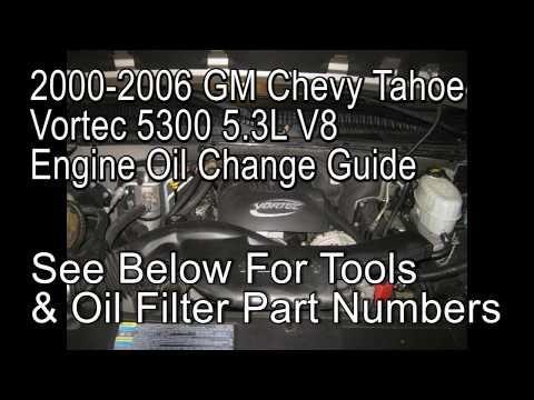 2000 chevrolet silverado 5.3 oil capacity