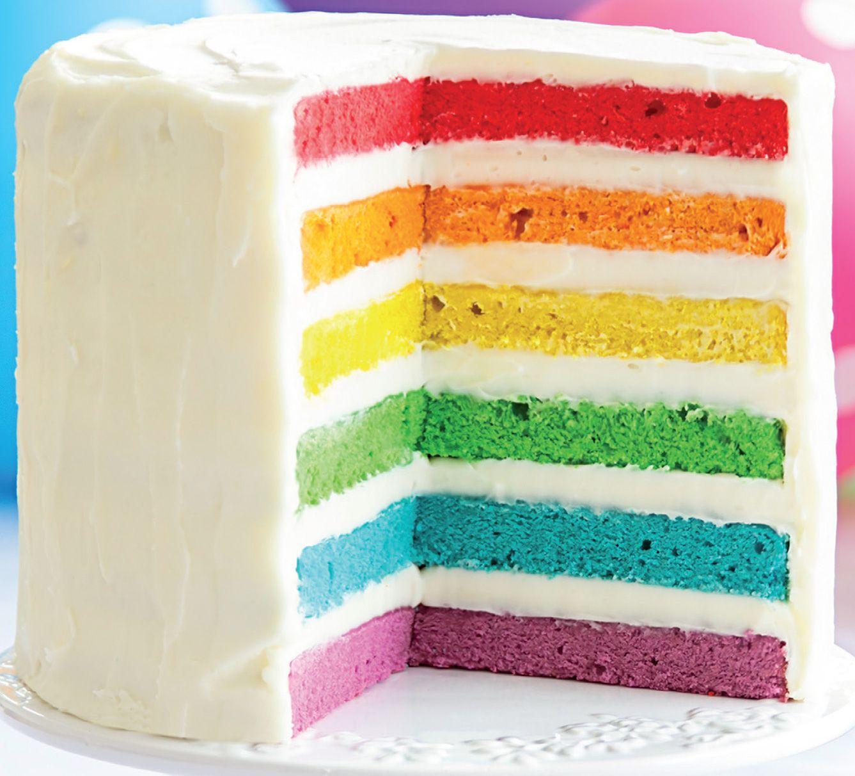 Le gâteau arc-en-ciel, un délice visuel et gustatif au dessert !