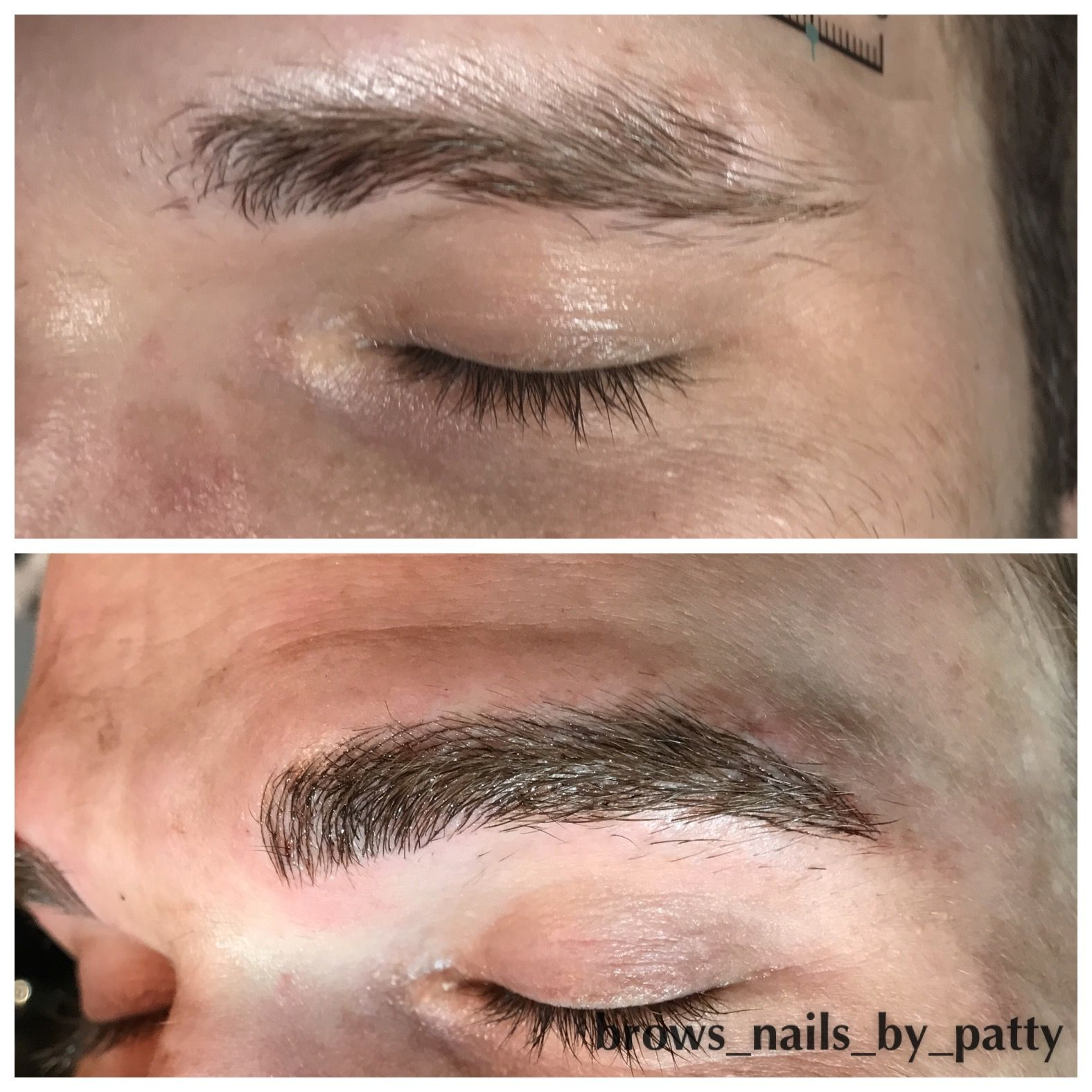 Male Before After Microblading Eyebrows Hairstrokes Semipermanent Pattycaresosa Cosmetic Tattoo Eyebrow Tattoo Semi Permanent Eyebrows
