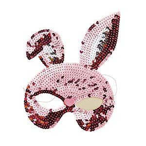 Sequin Bunny mask - Rice Dk