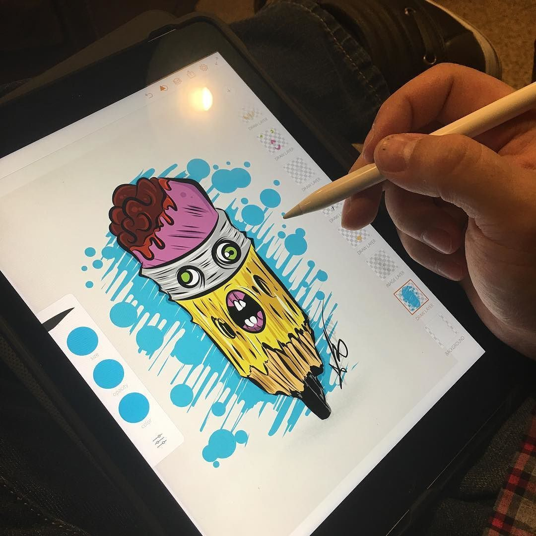 Winding down on iPad Pro with Apple Pencil. artwork