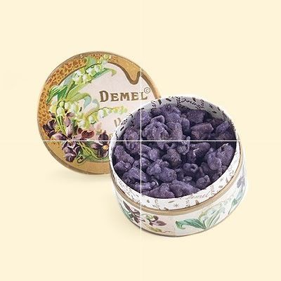 Sissi's favorite candy, Demel candied violets :-)