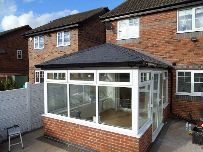 The Final Product Fully Tiled And Insulated To Keep The Conservatory Warm During Winter But Garden Room Extensions Tiled Conservatory Roof Conservatory Design