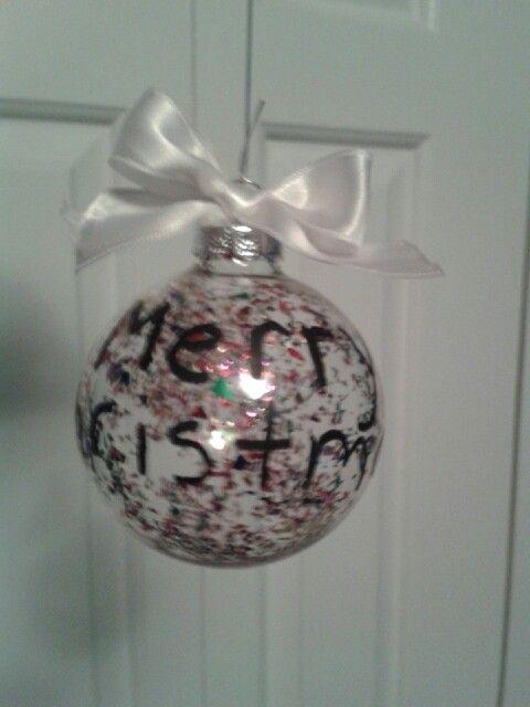 DIY glitter Christmas bulb