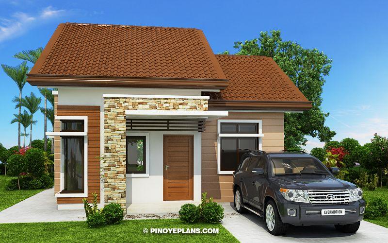 Katrina stylish two bedroom house plan design plans also pinoy eplans pinoyeplans on pinterest rh